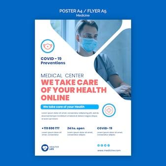 Modèle d'affiche de prévention médecine covid19