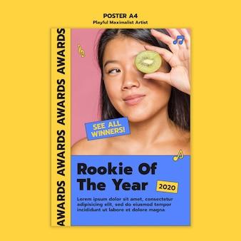 Modèle d'affiche de prix d'artiste