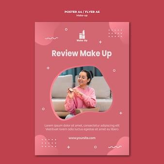 Modèle d'affiche de produits de maquillage