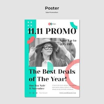 Modèle d'affiche de promotion de vente