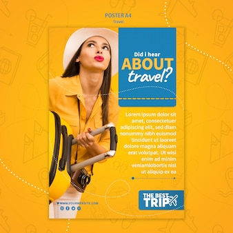 Modèle d'affiche de promotion de voyage