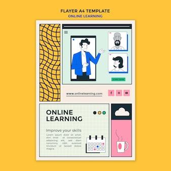 Modèle d'affiche publicitaire d'apprentissage en ligne