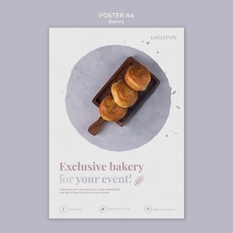Modèle d'affiche publicitaire de boulangerie