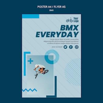 Modèle d'affiche publicitaire de magasin bmx