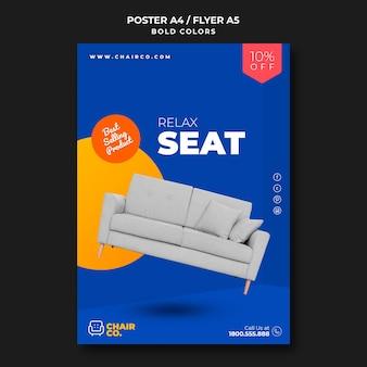Modèle d'affiche publicitaire pour magasin de meubles