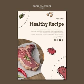 Modèle d'affiche de recettes