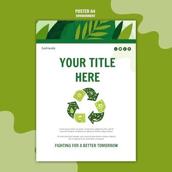 Modèle d'affiche de recyclage environnemental