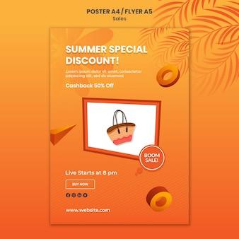 Modèle d'affiche de réduction spéciale d'été