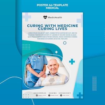 Modèle d'affiche de remèdes de médecine