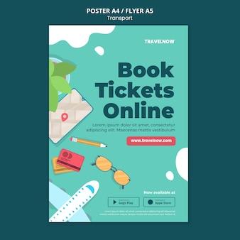 Modèle d'affiche de réservation de billets en ligne