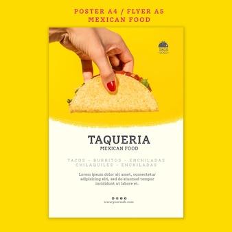 Modèle d'affiche de restaurant mexicain