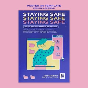 Modèle d'affiche de rester en sécurité