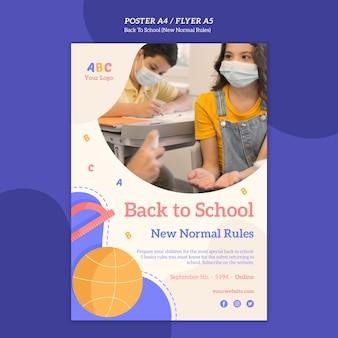 Modèle d'affiche de retour à l'école