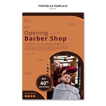 Modèle d'affiche de salon de coiffure