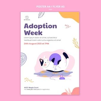 Modèle d'affiche de la semaine d'adoption