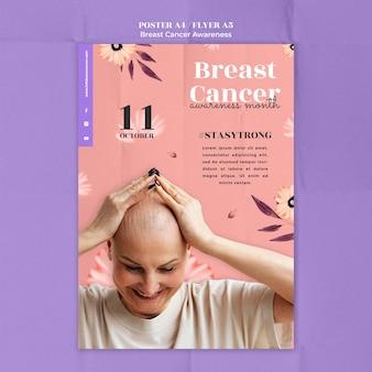 Modèle d'affiche de sensibilisation au cancer du sein
