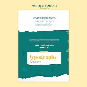 Modèle d'affiche de service de typographie