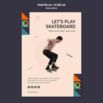 Modèle d'affiche de skateboard