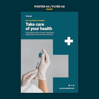 Modèle d'affiche de soins de santé