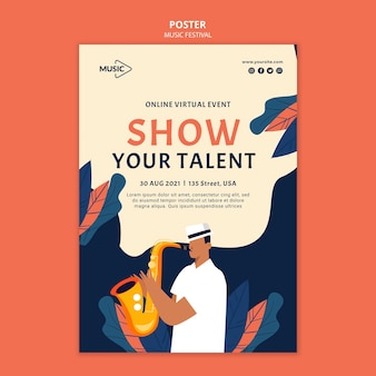 Modèle d'affiche de spectacle de talents