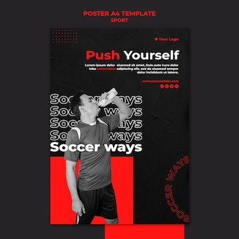 Modèle d'affiche de sport push yourself