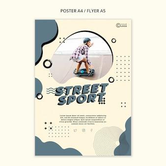 Modèle d'affiche de sport de rue