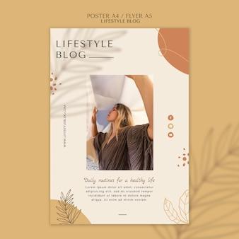 Modèle d'affiche de style de vie blogger
