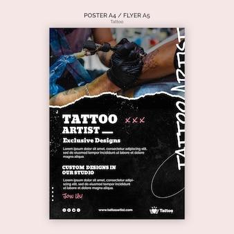 Modèle d'affiche de tatoueur