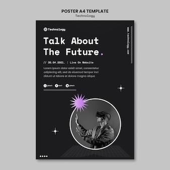 Modèle d'affiche de technologie future