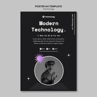 Modèle d'affiche de technologie moderne
