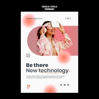 Modèle d'affiche de technologie