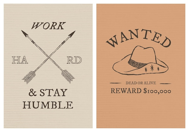 Modèle d'affiche sur le thème cowboy psd avec ensemble de texte modifiable