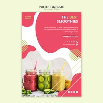 Modèle d'affiche de thème de smoothies