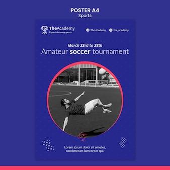 Modèle d'affiche de tournoi de football