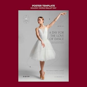 Modèle d'affiche de vacances de ballet