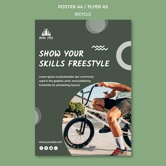 Modèle d'affiche de vélo