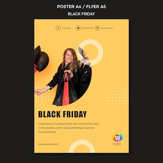 Modèle d'affiche de vendredi noir