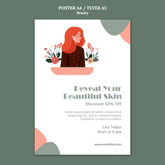 Modèle d'affiche de vente de beauté