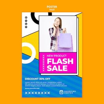 Modèle d'affiche de vente flash en ligne