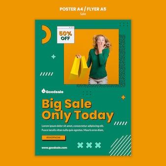 Modèle d'affiche de vente en ligne