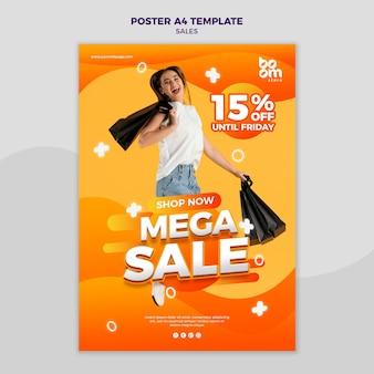 Modèle d'affiche de vente moderne