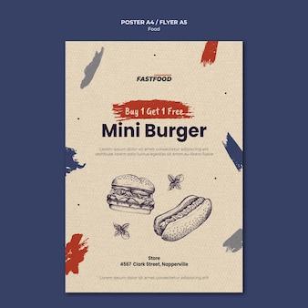 Modèle d'affiche de vente de nourriture