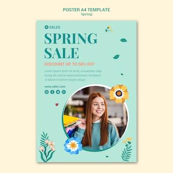 Modèle d'affiche de vente de printemps