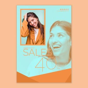 Modèle d'affiche de vente