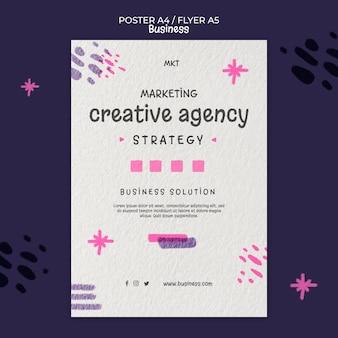 Modèle d'affiche verticale pour agence de marketing