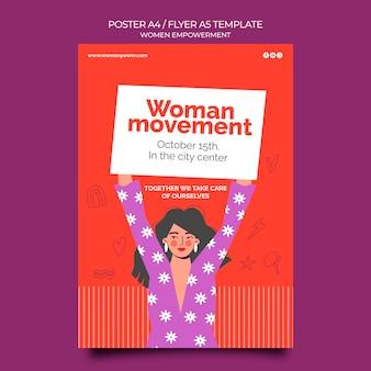 Modèle d'affiche verticale pour l'autonomisation des femmes