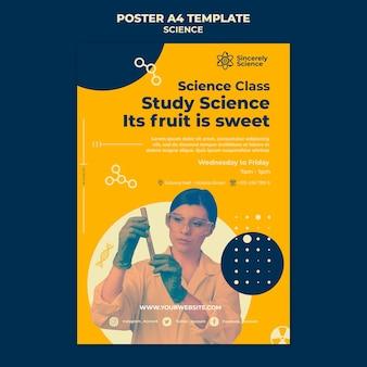 Modèle d'affiche verticale pour la classe de sciences