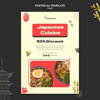 Modèle D'affiche Verticale Pour Restaurant De Cuisine Japonaise Psd gratuit