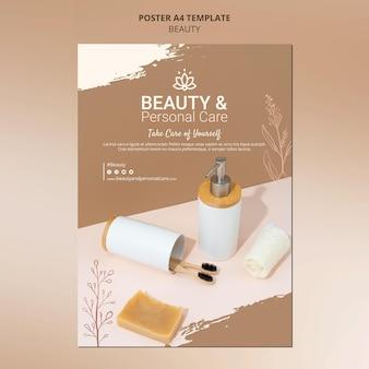 Modèle d'affiche verticale pour les soins personnels et la beauté