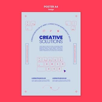 Modèle d'affiche verticale pour des solutions commerciales créatives